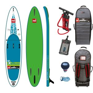 red explorer paddle board