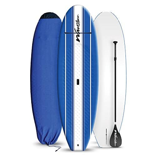 a picture of a costco wavestorm hard paddle board