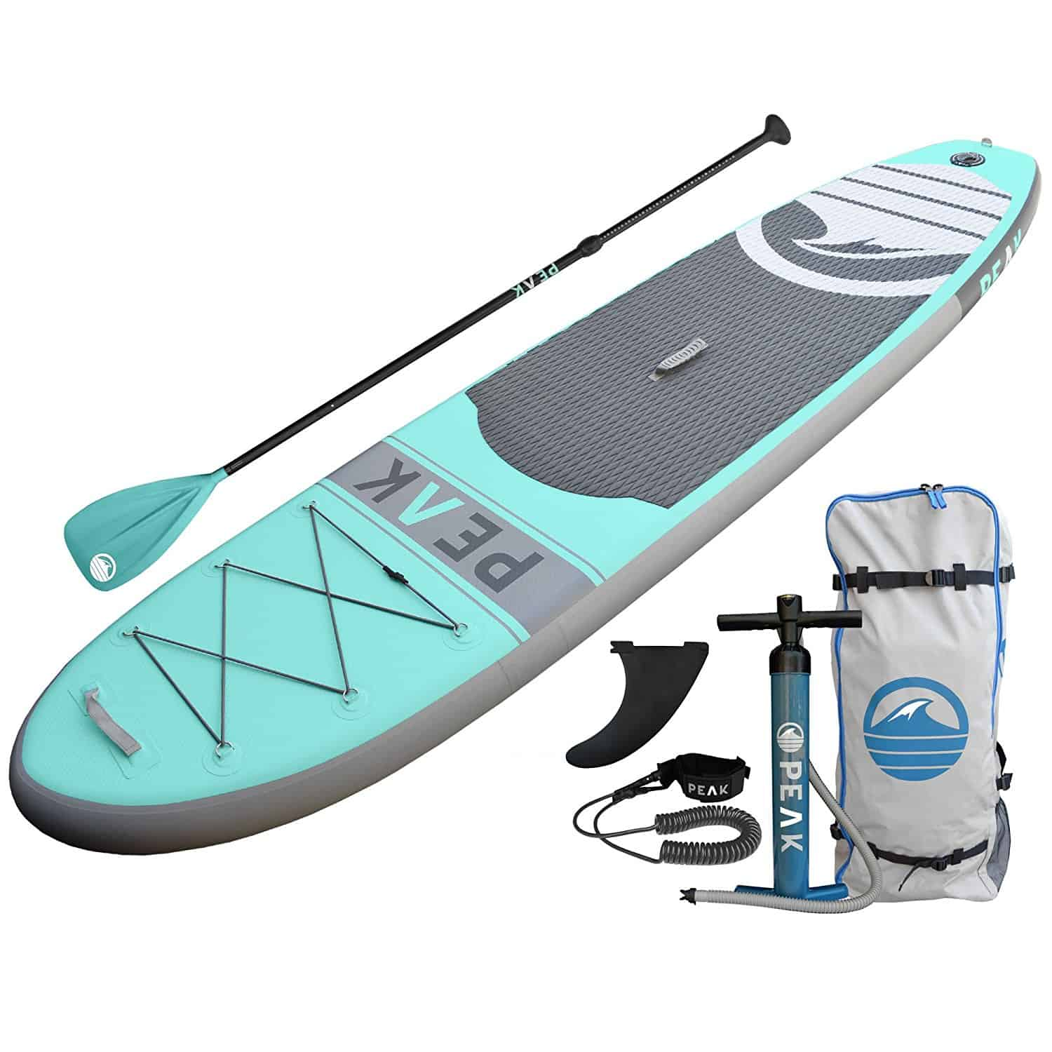 a picture of a peak inflatable stand up paddle board