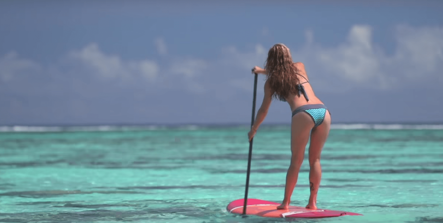 a picture of paddle board fitness