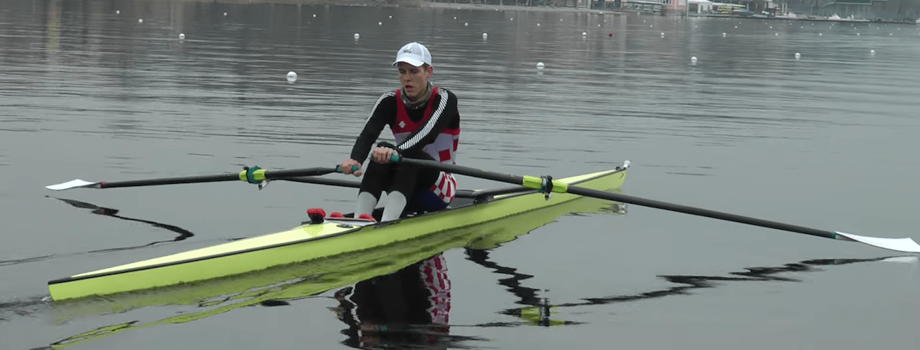 a picture of scull rowing