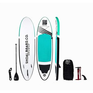 a pic of a Shoal Board Co All-around Inflatable SUP Kit