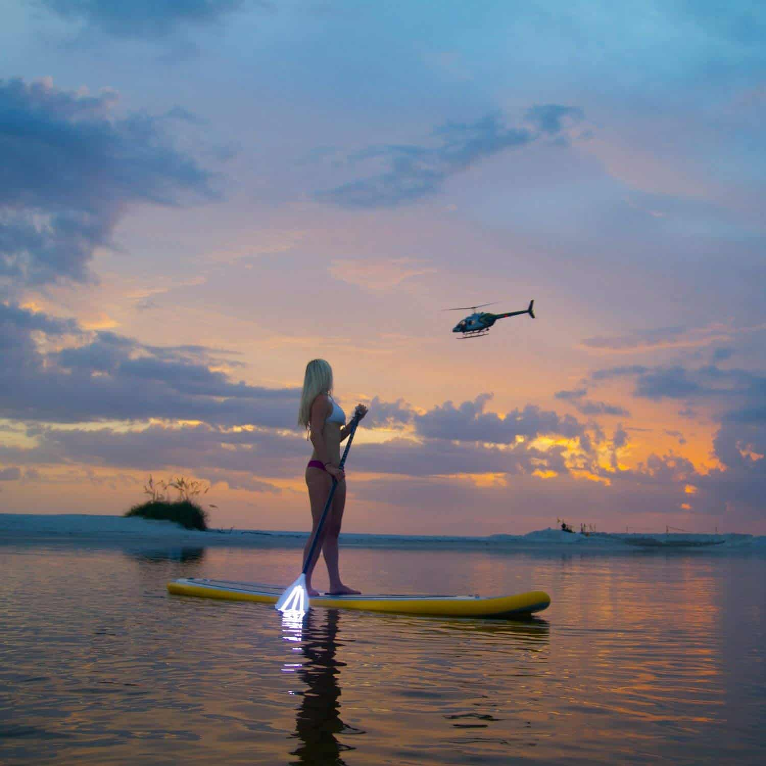 a picture of torch sup led paddle