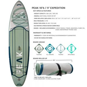 Peak Expedition Paddle Board