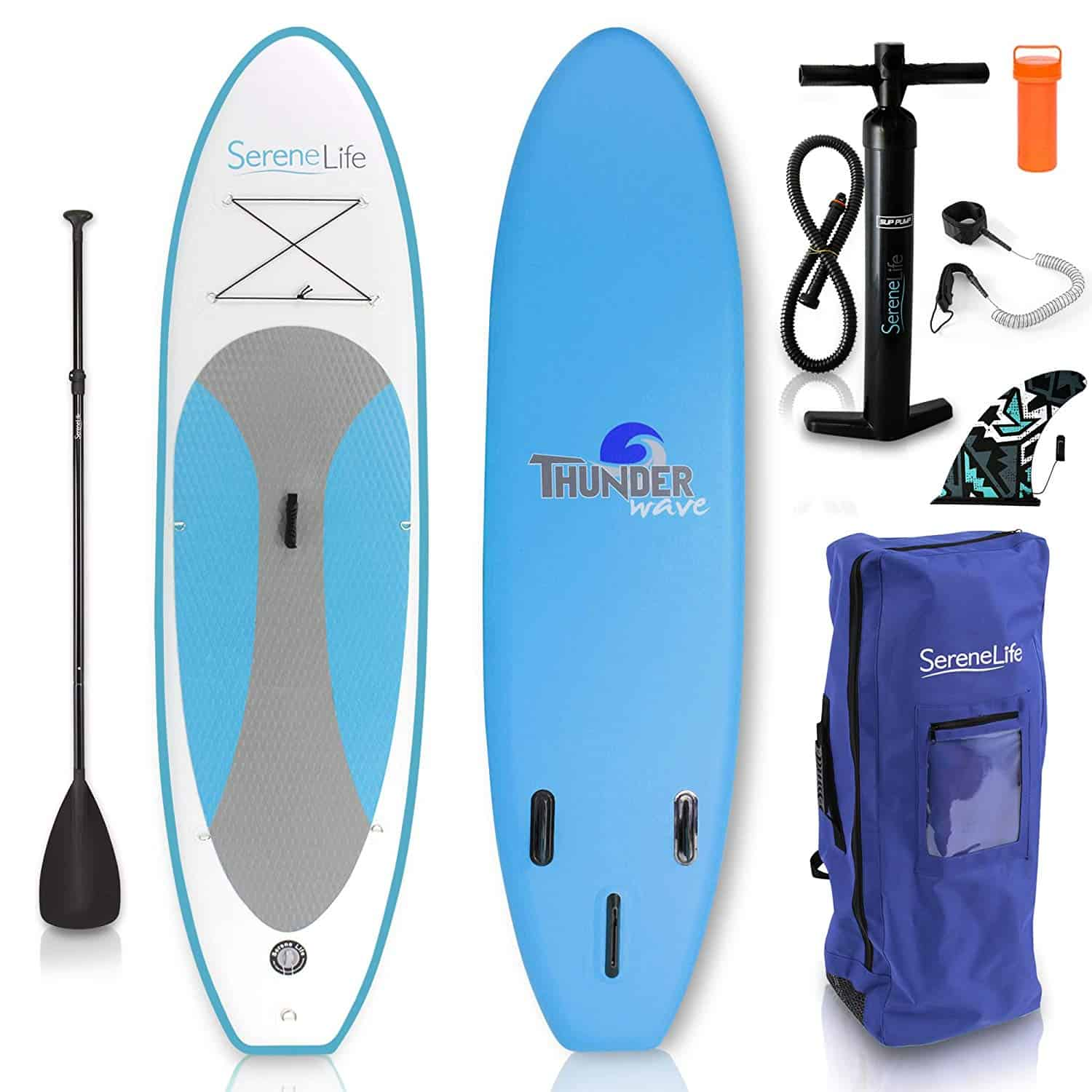 serenelife inflatble stand up paddle board